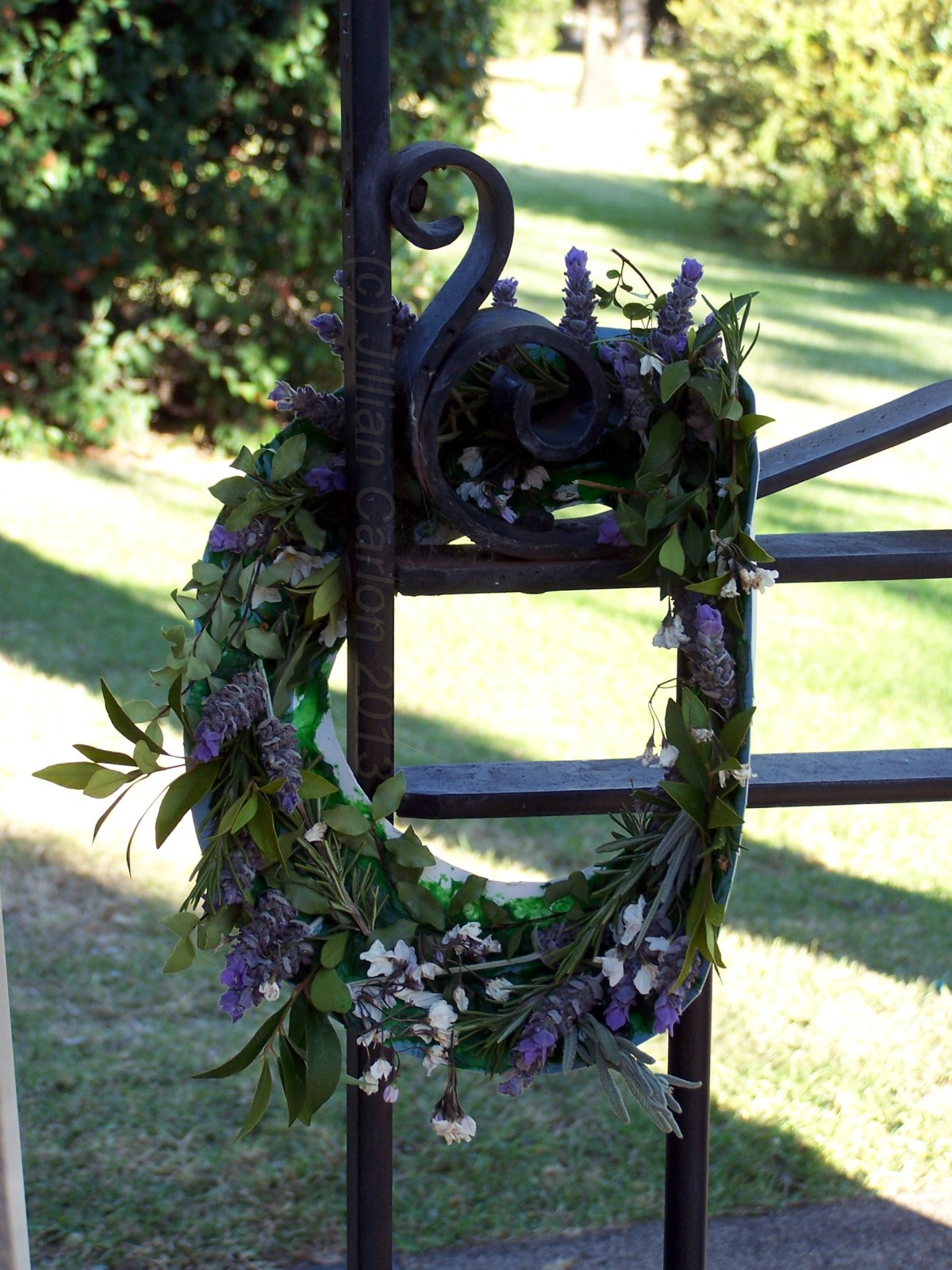 A simple wreath that out shone all the others at the War Memorial.